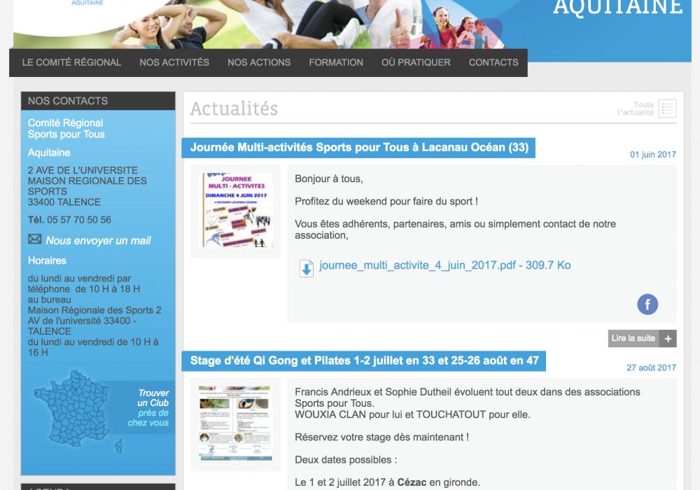 Fédération française des sports pour tous - Régions