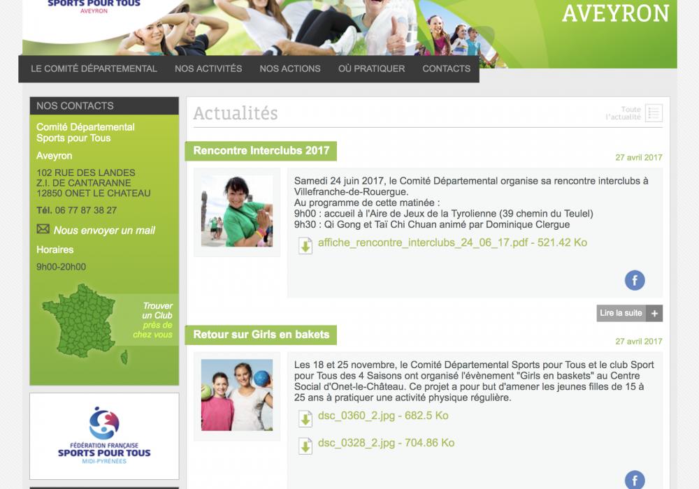 Fédération française des sports pour tous - Départements