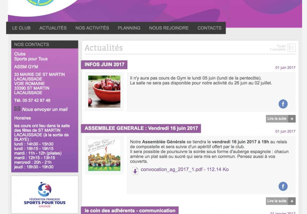 Fédération française des sports pour tous - Clubs